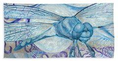 Dragonfly Moon Hand Towel