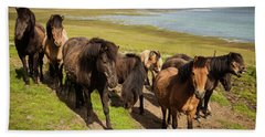 Icelandic Horses Hand Towel
