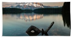 Mount Rundle And Two Jack Lake Hand Towel
