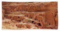 Petra, Jordan - Cave Dwellings Hand Towel