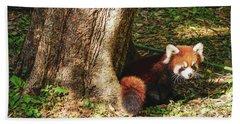 Red Panda Bath Towel