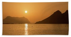 Sunrise On A Beach In Aguilas, Murcia Bath Towel