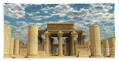 Temple Of Ancient Pharaohs Bath Towel
