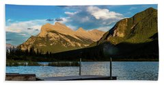 Vermillion Lakes, Banff National Park, Alberta, Canada Bath Towel