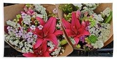 2019 Monona Farmers' Market July Bouquets 1 Hand Towel