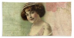 20th Century Actress In Beaded Gown Hand Towel