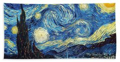 Starry Night By Van Gogh Hand Towel