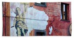 Artistic Mural In Tinnura Town, Bosa Bath Towel