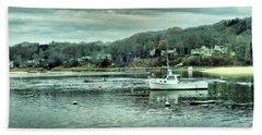 Boats At Northport Harbor Bath Towel