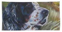 English Setter In The Field Bath Towel