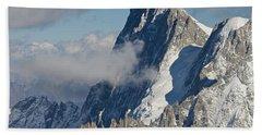 Mont Blanc Du Tacul Bath Towel