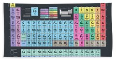 Periodic Table Of Elements Bath Towel