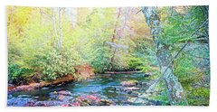Pocono Mountain Stream, Pennsylvania Bath Towel