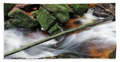 Stream In The Autumn Forest Bath Towel