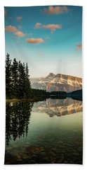 Two Jack Lake And Mount Rundle Bath Towel