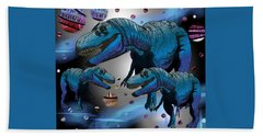 Tyrannosaurus Three Moons Hand Towel