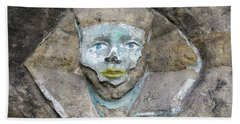 Rock Relief - The Face Of The Sphinx Bath Towel