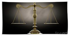 Scales Of Justice Dramatic Bath Towel