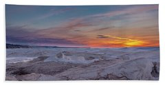 Winter Sunset Hand Towel