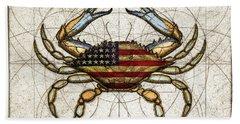 4th Of July Crab Bath Towel