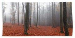 Beech Forest In Autumn Bath Towel