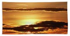 Clouds At Sunset Bath Towel