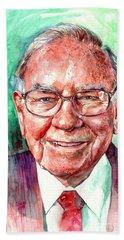 Warren Buffett Portrait Hand Towel