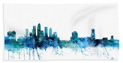Tampa Florida Skyline Bath Towel