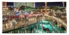 View Of The Venetian Hotel Resort And Casino Bath Towel
