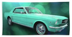 65 Mustang Bath Towel