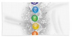 7 Chakra Tree Of Life Bath Towel