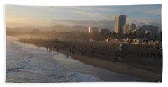 Pacific Sunset , Santa Monica, California Hand Towel