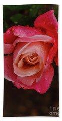 A Beautiful Wet Rose Bath Towel