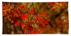 A Branch Of Autumn Hand Towel