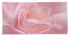 Bath Towel featuring the photograph A Delicate Pink Rose by Susan Rissi Tregoning