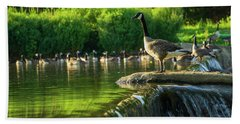 A Gaggle Of Geese Bath Towel