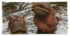 A Hippopotamus Pair In The Water Bath Towel