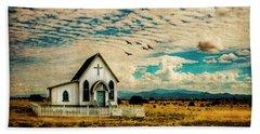 A Lone Prairie Church Hand Towel