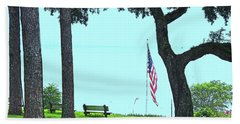 A Patriotic Scenic View From Fairhope Alabama On A Sunny Day Bath Towel