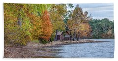Bath Towel featuring the photograph A Peaceful Place On An Autumn Day by James Woody