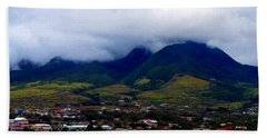 A View Of Saint Kitts From The Upper Deck 01 Bath Towel