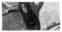 A Woman In A Tree, 1972 Bath Towel