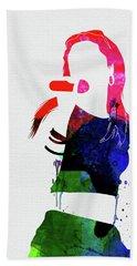 Aaliyah Watercolor Hand Towel