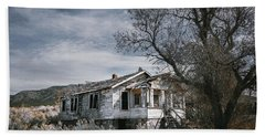 Abandoned Farmhouse In Golden, New Mexico Hand Towel