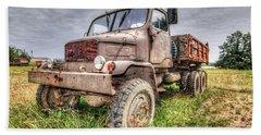 Abandoned Old Rusty Truck Praga V3s Bath Towel