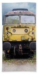 Abandoned Yellow Train Hand Towel