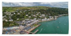 Aberdyfi From The Air Hand Towel