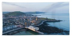 Aberystwyth From The Air In The Morning Hand Towel