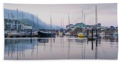 Aberystwyth Harbour In The Eatly Morning Bath Towel