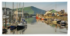 Aberystwyth Marina At Daybreak Hand Towel